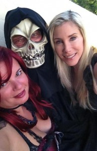 Gina Pacelli, John and Elaine at Fantasy Fest
