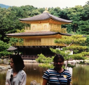 Gina Pacelli at the Golden Temple in Kyoto, Japan