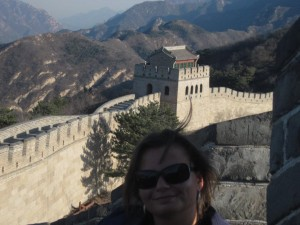 Gina Pacelli at the Great Wall in China