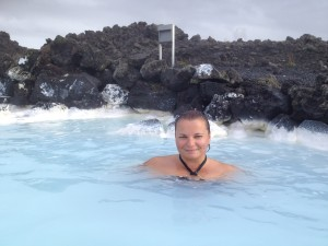 Gina Pacelli at the Blue Lagoon, Iceland