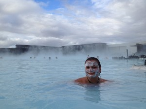 Gina Pacelli at the Blue Lagoon in Iceland