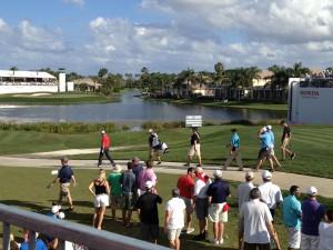 Luke Guthrie golfing at the Honda Classic at PGA Natinoal