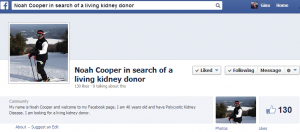 Noah Cooper in Search of a Living Kidney Donor