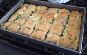 Spanakopita, otherwise known as Spinach Pie