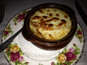 French Onion Soup at Escargot 41