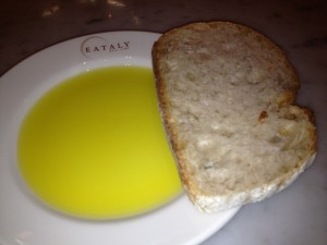 Olive Oil and Italian Bread at Eataly