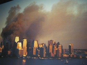 Twin Towers on Flames on September 11