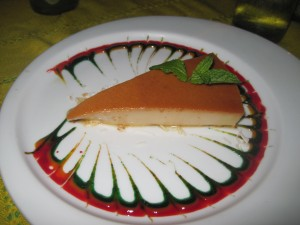 Flan at The Office, Cabo, Mexico