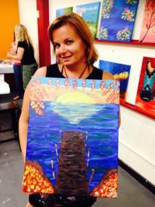 Gina Pacelli at Vino Van Gogh, Delray Beach, Florida