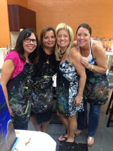 Gisela, Gina, Victoria, & Cathy, Vino Van Gogh