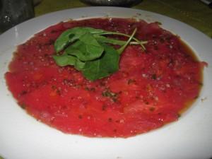 Tuna Tartar at The Office, Cabo