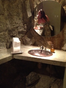 Bathroom in a Mountain, El Farallon, Cabo, Mexico