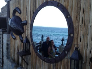 Brian and L, El Farallon, Cabo, Mexico