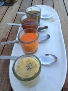 Sauces at El Farallon, Cabo, Mexico