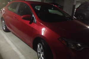 My RED Toyota Corolla