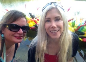 Gina Pacelli and Elaine, Chihuly Exhibit at Fairchild