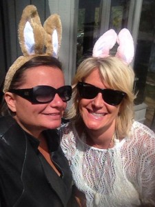 Gina Pacelli and Katherine Leonard with Bunny Ears