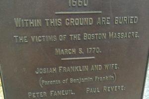 Boston: Granary Burying Ground