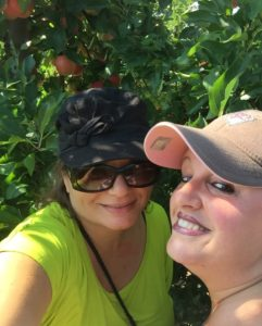 Gina Pacelli and Tania at Russell Orchards