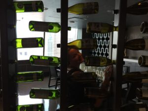 Gina Pacelli and Wine Bottles at Nest