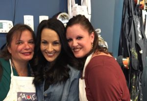 Gina Pacelli, Laura, and Tania at Muse Paintbar in Lynnfield