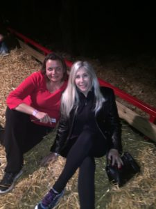 Gina Pacelli and Elaine at Spooky World