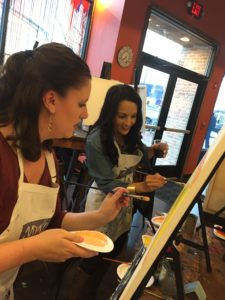 Tania and Laura Painting