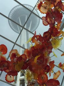Chihuly Glass Art and Space Needle