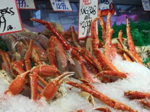 Crab Legs at Pike Place Market