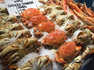 Crabs at Pike Place Market
