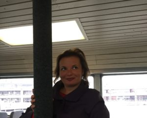 Gina Pacelli on a Boat to Alki Beach