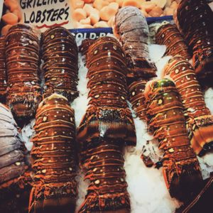 Lobster Tails at Pike Place Market
