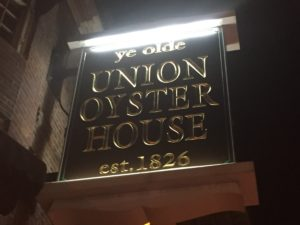 Union Oyster House Sign