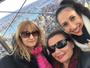 Dina, Gina Pacelli, Joanna, Empire State Building, New York