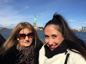 Dina, Joanna, Statue of Liberty, New York City