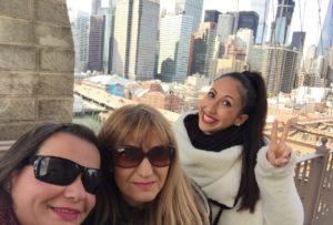 Gina Pacelli, Dina, Joanna, Brooklyn Bridge, New York City