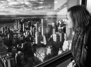 Gina Pacelli at the Empire State Building in New York City