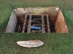 Clipping Armpit Trap, Cu Chi Tunnels, Vietnam