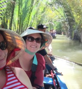 Gina Pacelli and Erin, The Mekong Delta, Vietnam