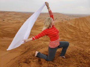 Elaine, Red Sand Desert, UAE