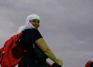 Gina Pacelli, Camel Ride, Desert, UAE