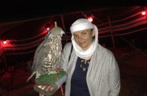 Gina Pacelli, Desert, Falcon, UAE