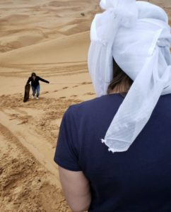 Gina Pacelli, Getting Ready to Sand Sled, UAE