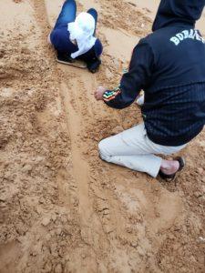 Gina Pacelli, Sand Sledding, UAE